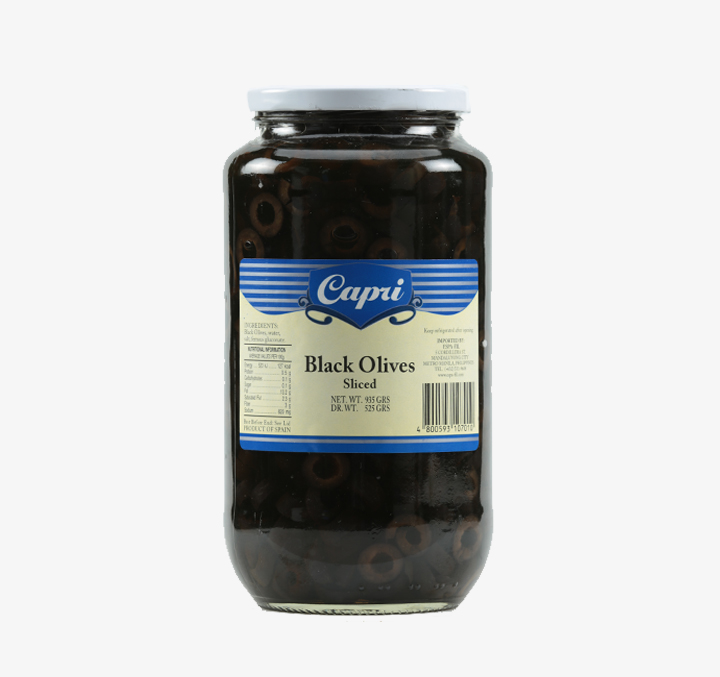 Black Olives (Sliced) - Size Availability: 330g, 935g, 3050g