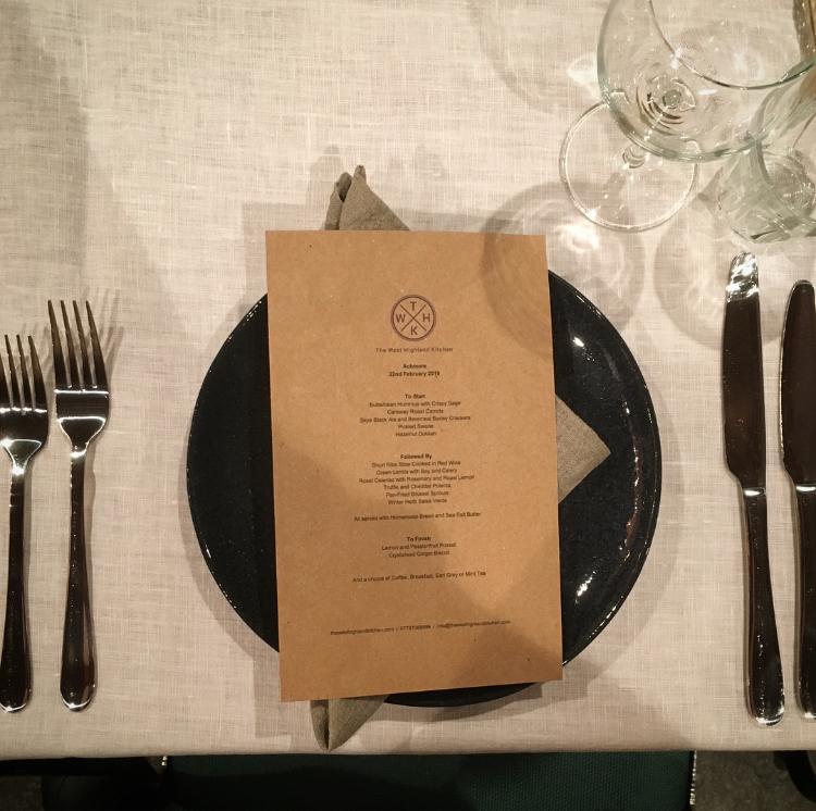 Menu Blog The West Highland Kitchen