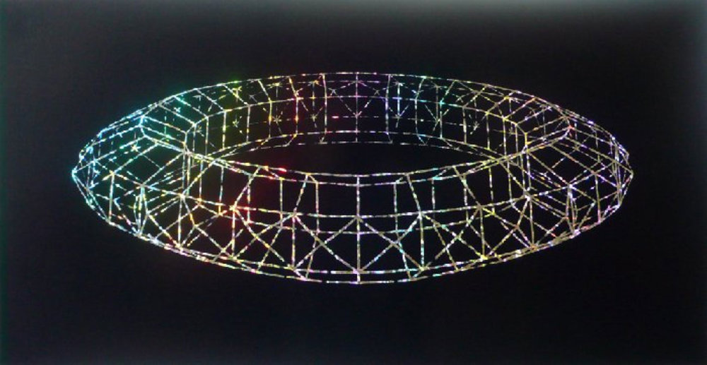 HOMMAGE AAN PAOLO UCCELLO  1995 89,6x46,8 cm  zeefdruk op holoprism papier