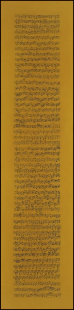 CIACCONA HOMMAGE AAN J.S. BACH  1998 32x132 cm (4x)