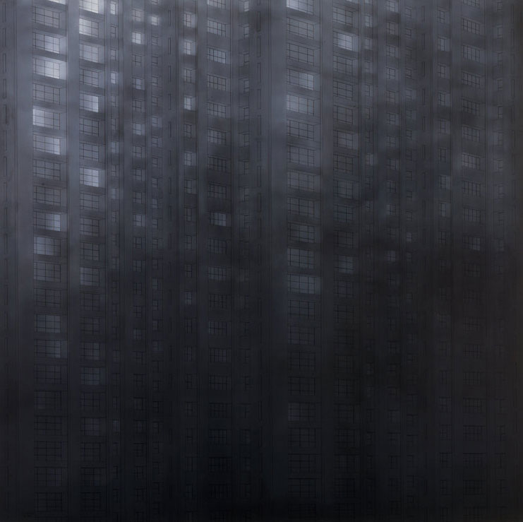UNTITLED  1980 200x200 cm  private collection