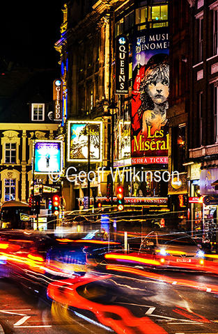 Shaftesbury Avenue Theatres at Night.  © Geoff Wilkinson.JPG