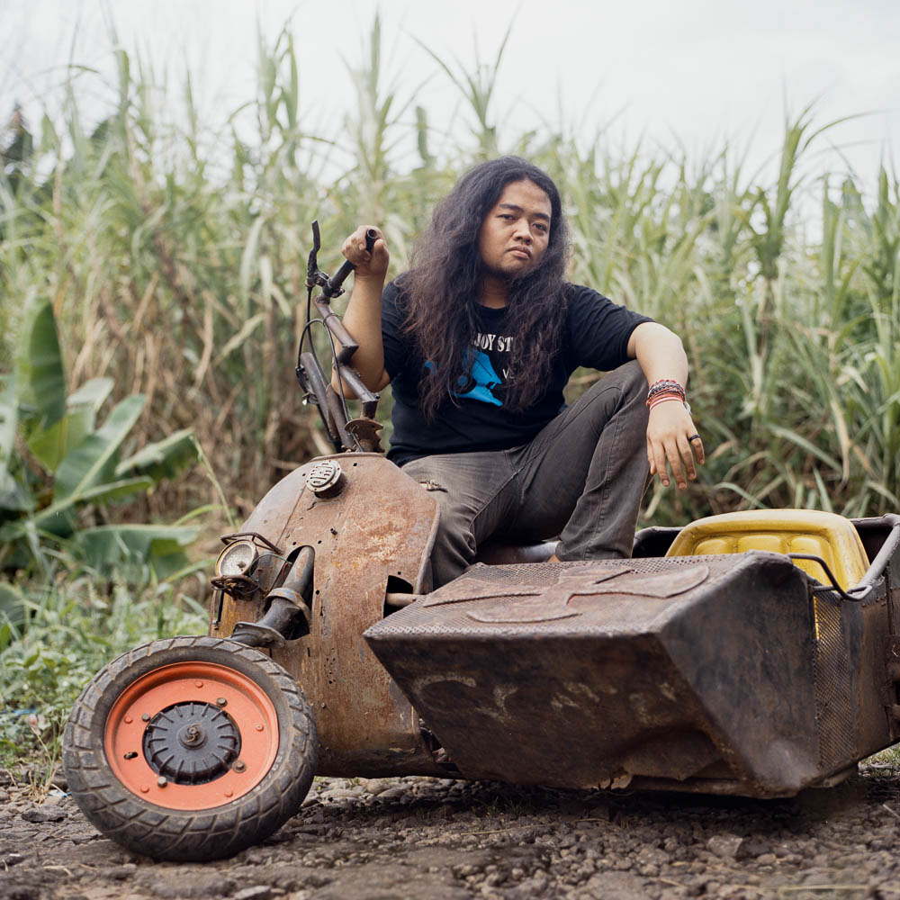 Fajar 'Bajaj' Purboyo, a university student and a scooterist from Pamulang, a satelite town outside of Jakarta.