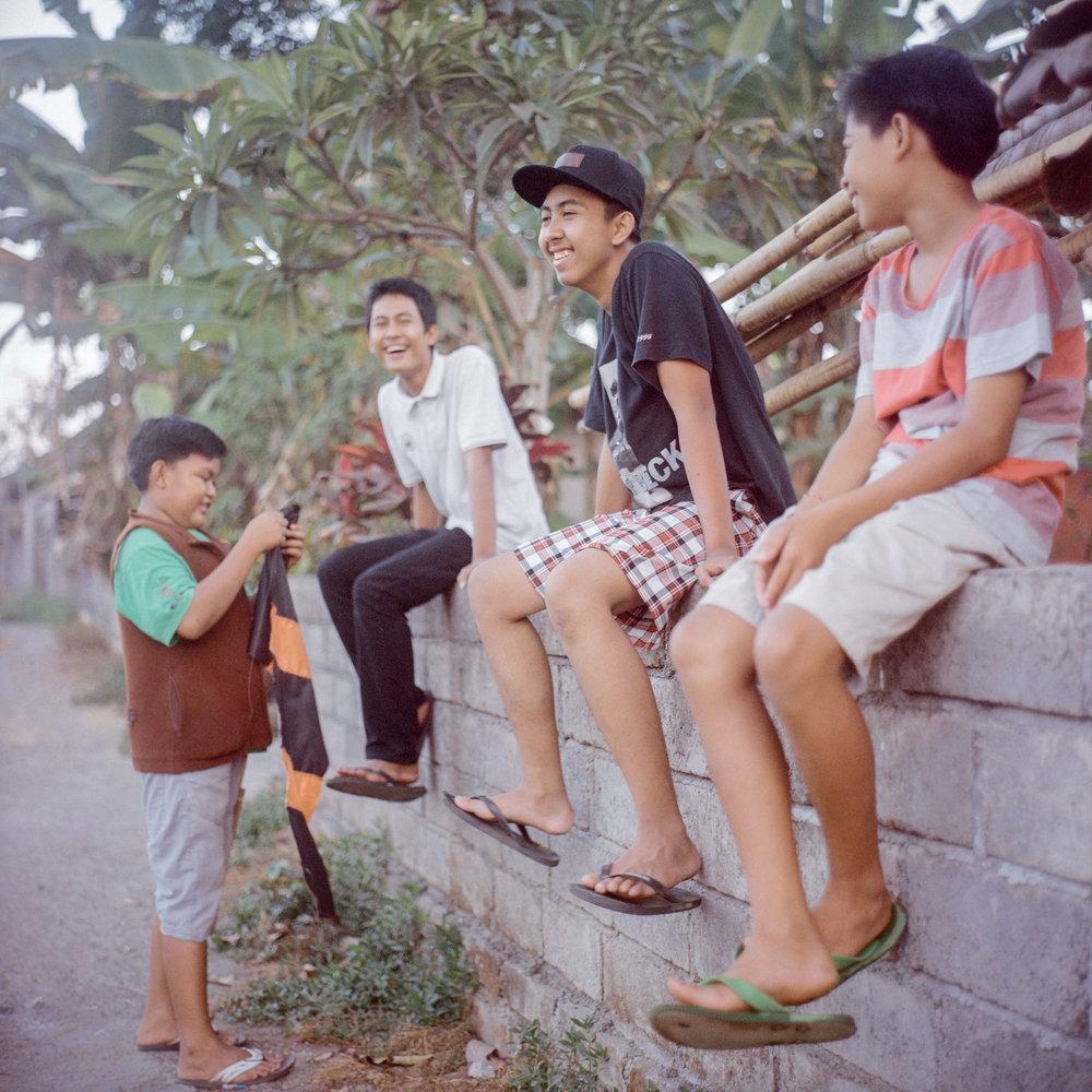 Boys hanging out at Tunjuk Village, Bali, Indoensia.