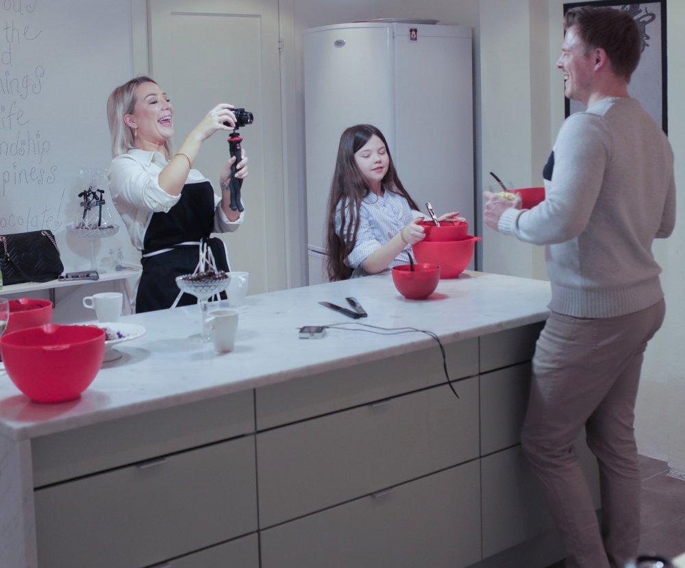 Alexandra filmar sin Andreas