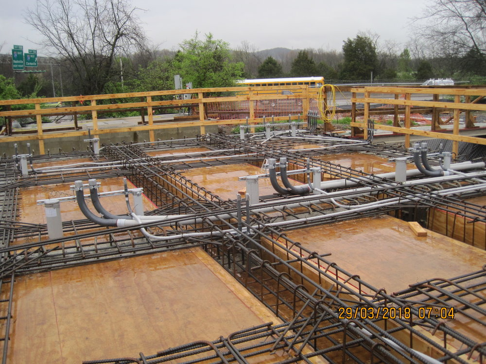 Suspended Beams and Roof Slab