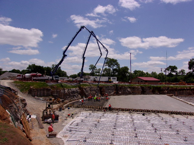 Concrete Pour for Tank Floor
