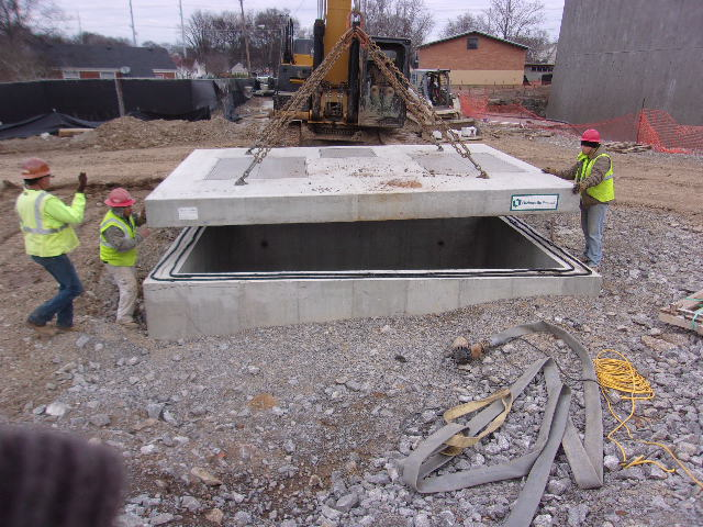Placing Top on Valve Vault
