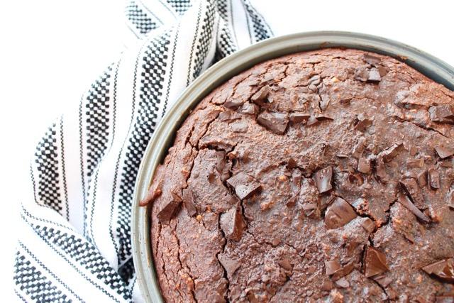 PALEO DOUBLE-LAYERED BLONDIE + BROWNIE CAKE