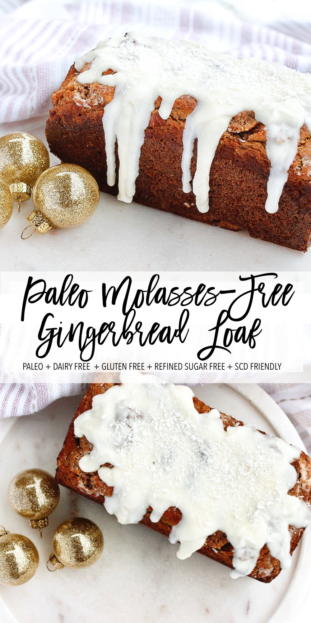 MOLASSES-FREE PALEO GINGERBREAD LOAF