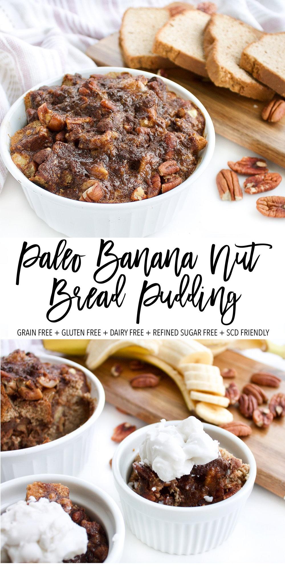 BANANA NUT PALEO BREAD PUDDING
