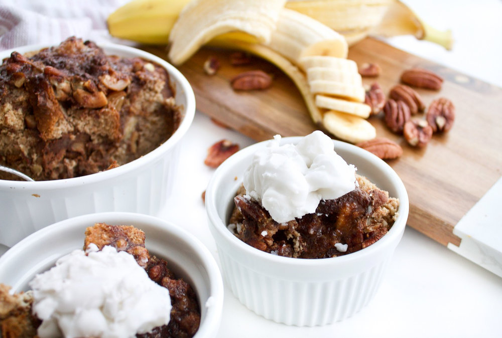 BANANA NUT PALEO BREAD PUDDING