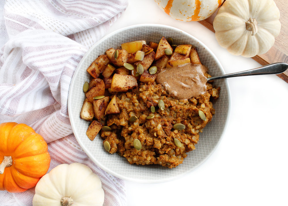 PALEO PUMPKIN CAULIFLOWER RICE OATMEAL