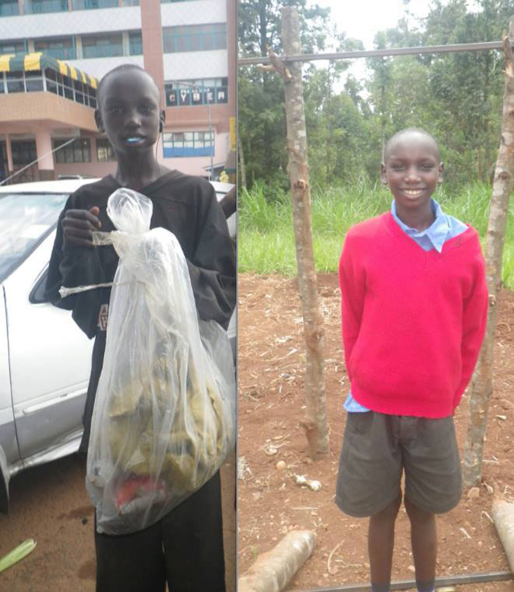 Daniel Mogaka lived in Kisii for six or seven years (he lost count), and is only twelve years old. He is currently working hard in school, learning how to read and write. For his years in the street, he openly admits to sniffing glue, huffing jet fuel, smoking marijuana, smoking cigarettes, and drinking alcohol every single day.