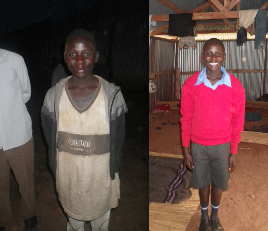 Enock's nickname during his five years in the streets was TanoTano, meaning FiveFive because he was known for asking for only five cents when he begged. Now, his self-given nickname is Mzee, which means elder, because he is the oldest boy (and one of the hardest working) in the group.