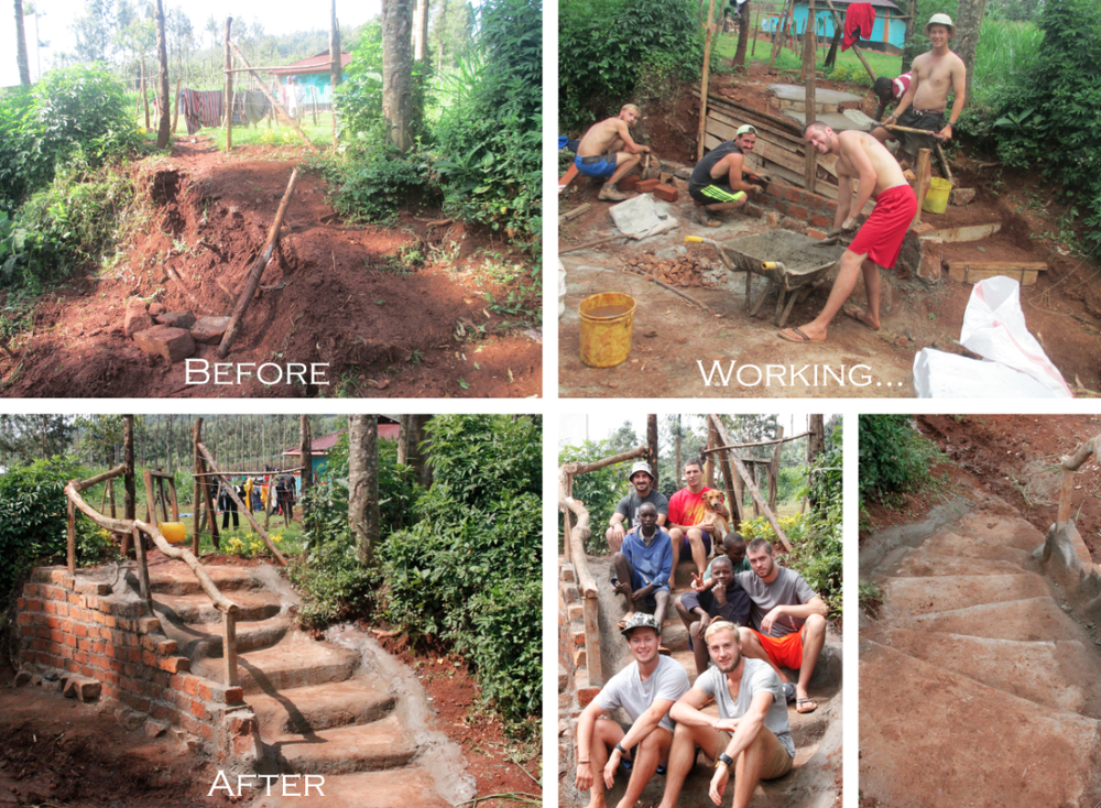 In the top right photo you can see the four hard workers, from left to right: Joren, Davide, Brennan, and James.