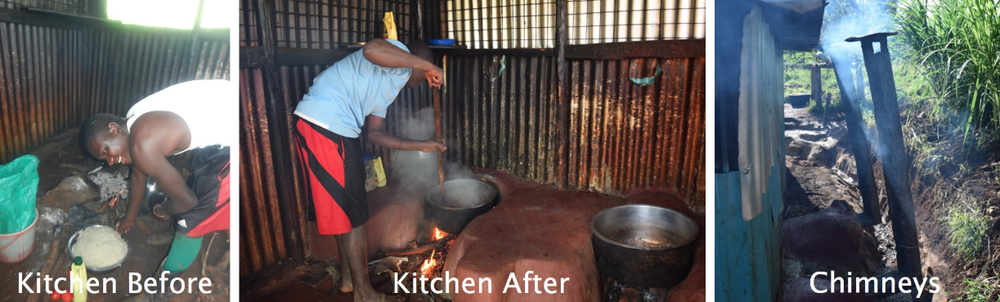 Kaparo in his new kitchen. Click to englarge.