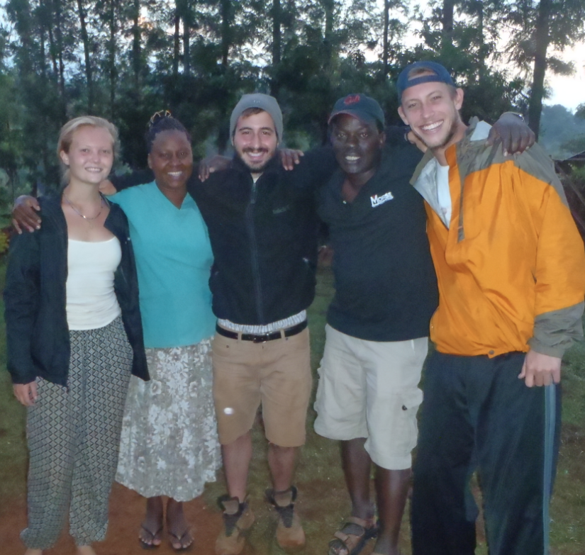 Left to right: Joanna (volunteer), Mama Terry, Me, Pastor Robert, Brian (volunteer)