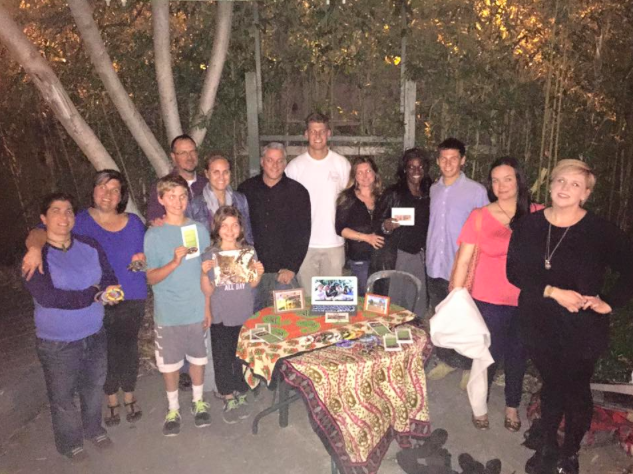 A few supporters at our Santa Cruz fundraiser, with former volunteer Mike in the middle (white shirt).