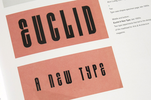 1930s specimen of Euclid. A New Type.