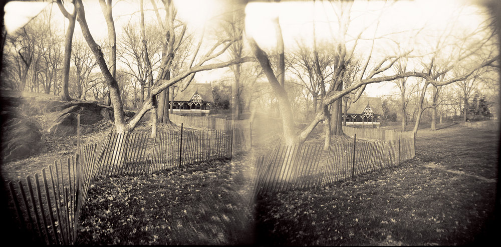 Landscape of Memory : lom 047   bleached silver print, framed  24 x 12cm, 1997