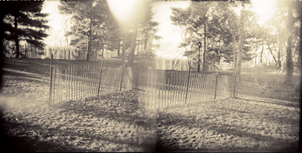 Landscape of Memory : lom 057   bleached silver print, framed  24 x 12cm, 1998