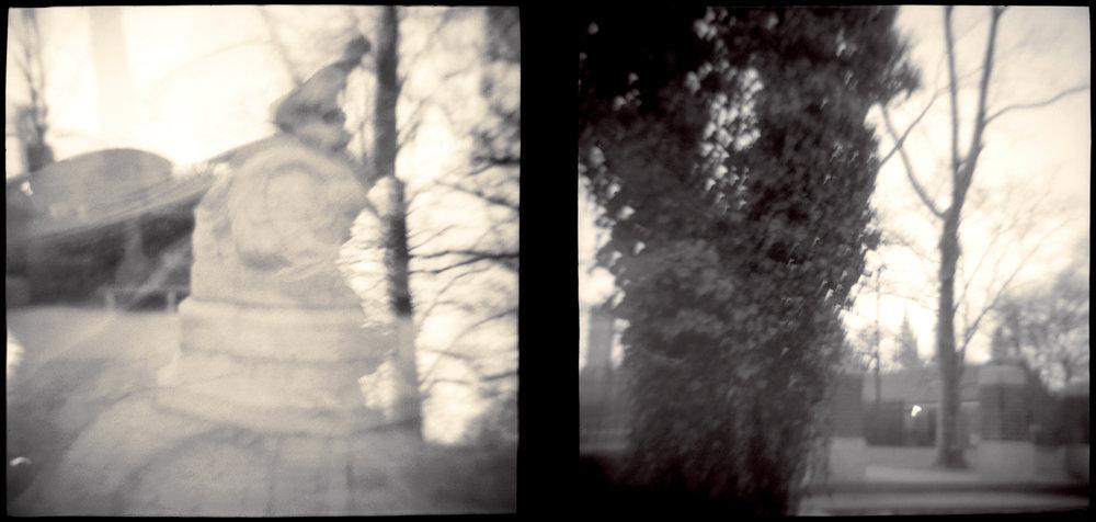 Landscape of Memory : lom 044   toned silver print, framed  30 x 14cm, 1997