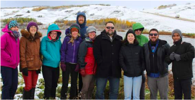 Battle River Watershed Alliance and Northern BC Regional Case ECHO team members in Camrose, Alberta, on October 2nd, 2017.