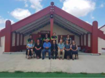 ECHO team members (Margot Parkes, Pierre Horwitz) are welcomed to Rukumo- ana Marae as part of a launch and site-visit of wetland restoration initiative involving ECHO collaborators at Manaaki Whenua/ Landcare Research, working with the Ngāti Hauā Mahi Trust.