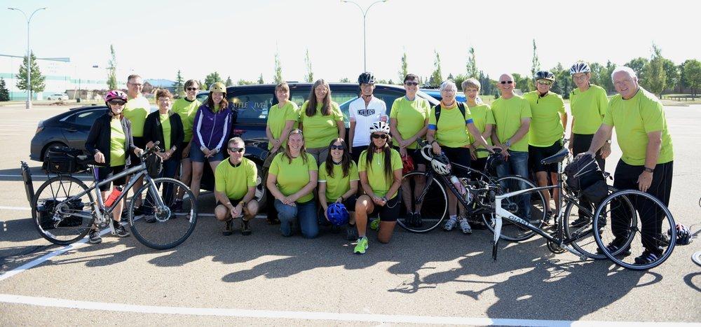 BRWA Finding Common Ground Bike Tour Team.