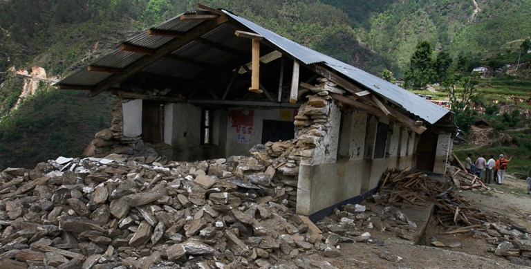 Many schools suffered fates like this or worse. Most schools have yet to begin construction.