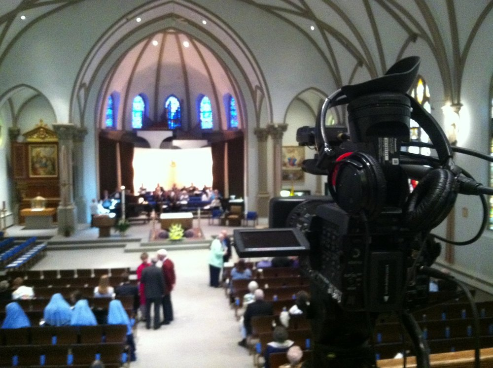 Filming for the Diocese