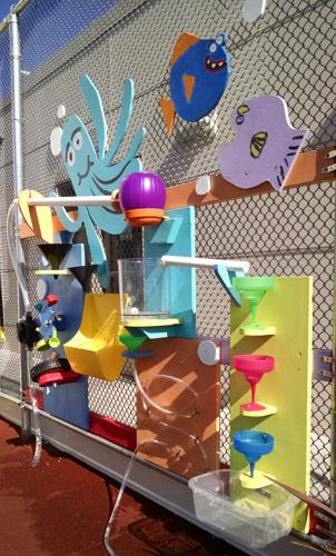 JOSE MARTI CHILD DEVELOPMENT CENTER WATER WALL | 2017 - Waterplay wall for Jose Marti Child Development CenterPartner: El Centro de la RazaTeaching Artist: Will Schlough.