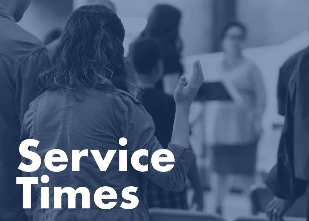 Sundays 10am - Our weekly service is on Sundays at 10am. Come join us early for some coffee and delicious snacks in our foyer before the start of the service.