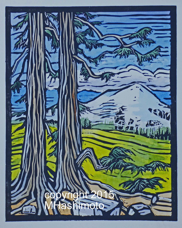 Mountain Hemlocks & Mt. Baker