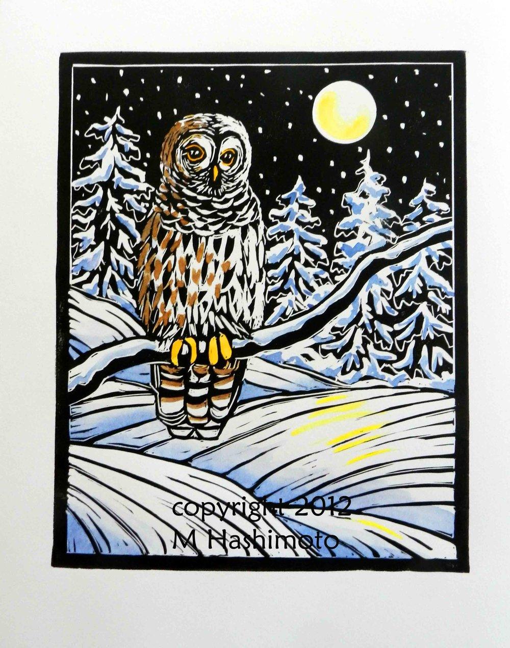 Owl & Moon $115