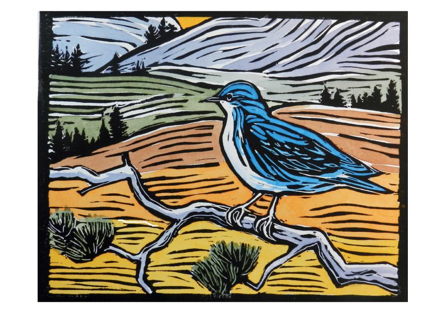 Mountain Bluebird Boxed Notecard $10.95