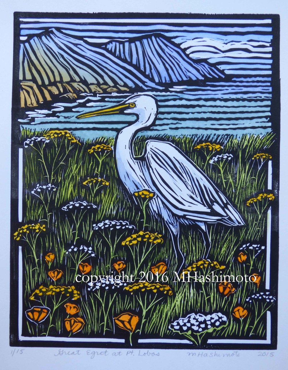 Great Egret at Pt. Lobos  $145