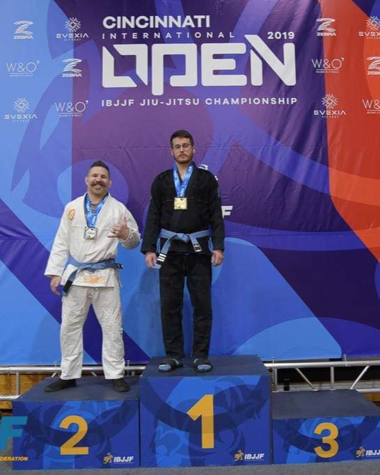 Dave Darges and Dave Armbrecht placed first and second respectively in the Master One Male Blue Medium-Heavy division.