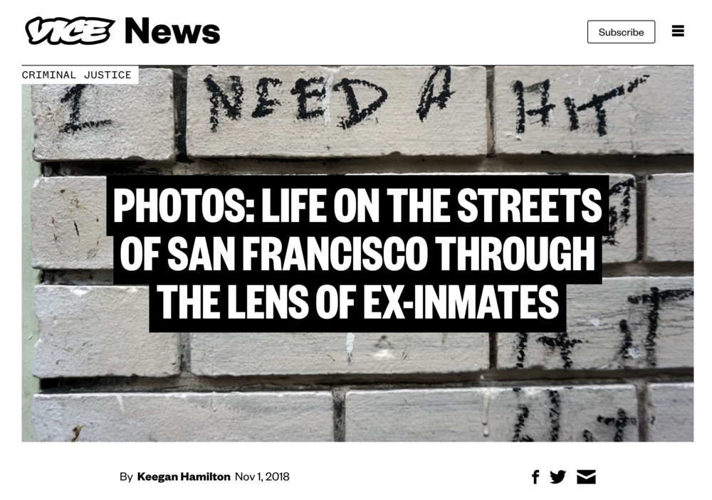 vice feature - Check out VICE's coverage of the workshop and learn more about students Eugene Riley and Chris Shurn and their experience photographing in the Tenderloin.