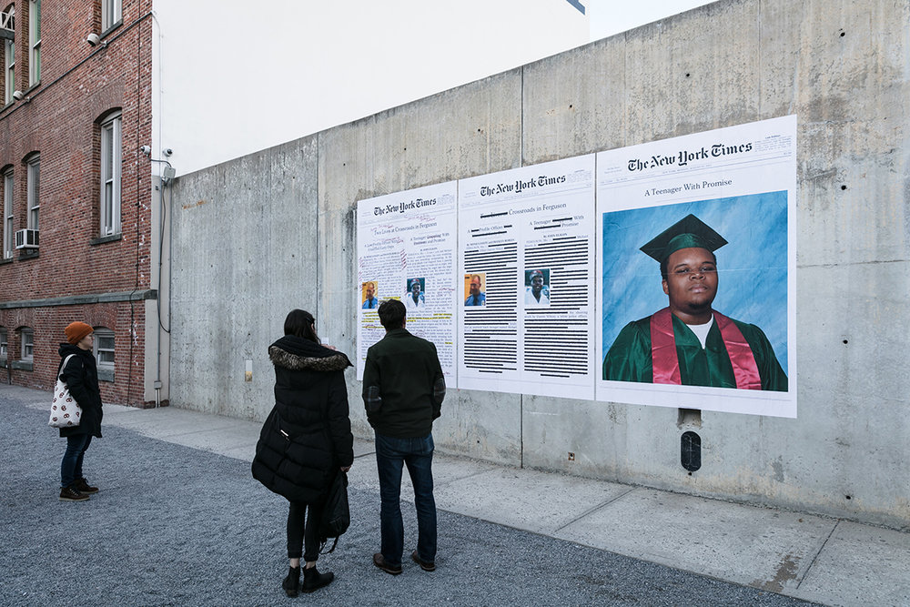 """A Teenager With Promise (Annotated)"", 2017, MoMA PS1 (Photo: Charles Roussel) From the series ""Counternarratives"""