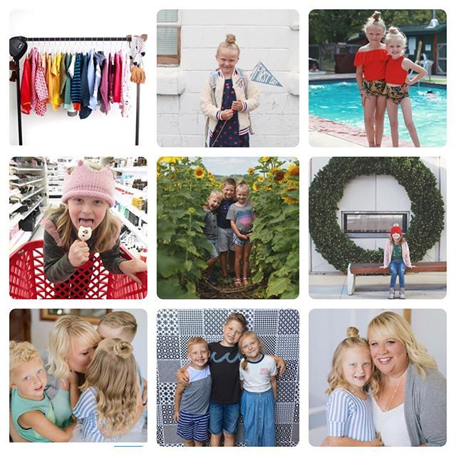 """My #topnine had a common theme ... you guys like it when I pour my heart out! It doesn't happen very often and I even """"quit"""" Instagram for a few months this year. It was a year of BIG change for me. I went back to full time work after being a stay at home mom for over 7 years. To be honest it was horrible for a long time. I got a job that seemed like my dream and it turned out to be a place that didn't support that I was a mom first and made me lose myself as a creative. I doubted everything about myself and it was a dark time career wise. Months later I found my new love which is @macandmia ... a company that celebrates mothers and their careers AND landed my longtime dream job as an Art Director for @betterhomesandgardens home group. I have wanted that job since I was in college and I am a LOT older now 🙃 so hopefully that gives someone hope that you will eventually get the job you want and there are places out there that support mothers and their careers. I mean I took seven years off my career path to be with my kids and was I so worried no one would ever hire me again. I did do Hello Charlie on the side when I was home and tried to keep it relatable to my end goal. Not every day is sunshine and roses of course but will it ever be?! Life is all about ups and downs. I'm so grateful the first part of 2018 is over and behind me and in a crazy way it did get me to where I am now and it has made me appreciate it SO much more. So some of my highlights this year on top of career moves where our family Chicago trip and stopping by the @macandmia headquarters, my solo trip to Waco and meeting the Magnolia team, my new job at Meredith, bringing back this Hello Charlie page even though it still needs a ton of work, and so many memories with the three little blondes that I love so much. Here is hoping for a lot less drama in 2019 and I'm so excited to not be the new girl at either job! 🎉🎉🎉 . . . . . . #momlife #mommylife #macmiastyle #macandmiastylist #stylediaries #ootd #t"""