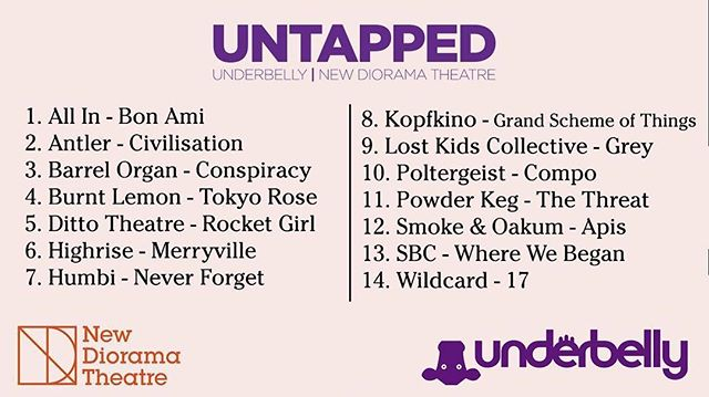 So happy to be shortlisted for UNTAPPED by @new_diorama and @underbellyedinburgh