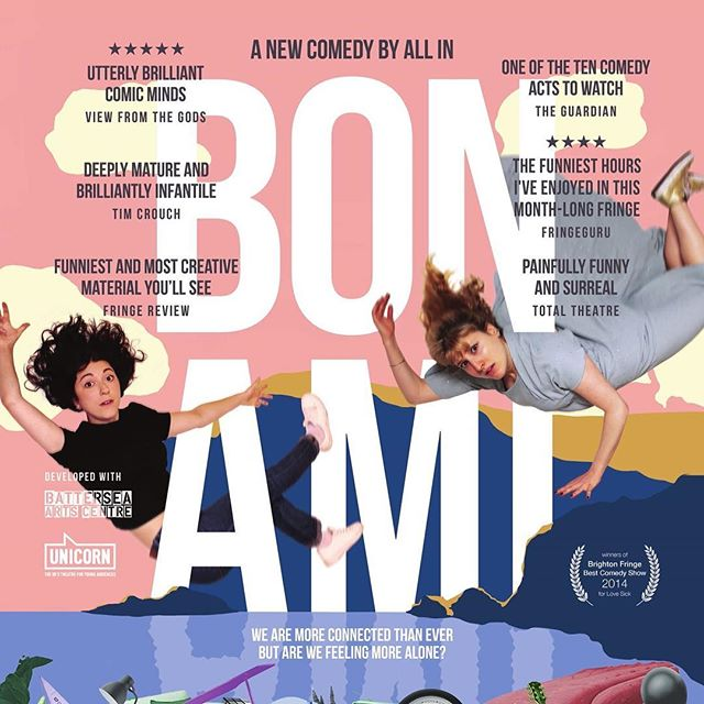 Bon Ami opens next week! Come see this mad, funny and silly hour of joy. 13th-17th March. @vaultfestival @batterseaartscentre #bonami  https://vaultfestival.com/whats-on/bon-ami/