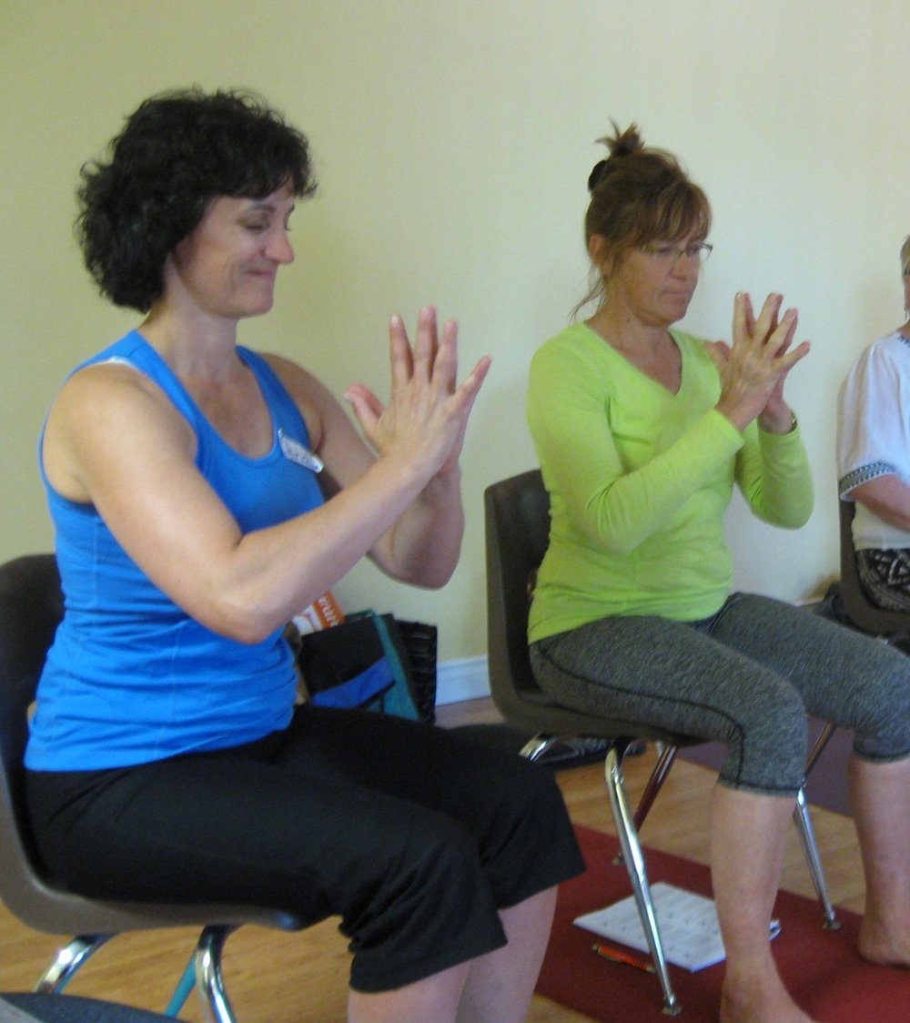 HAND MUDRA IN CHAIR YOGA