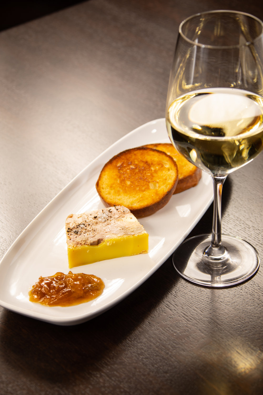 Terrine de Foie Gras, Domain du Salvarde Sauvignon Blanc