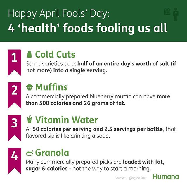 "Happy April Fools Day! Are you getting fooled by one of these ""health"" foods? Enjoy these treats in moderation, not as a part of your daily diet 🍪🍫🍭🍦🍺🥡🍩 . . Don't be tricked by ""health"" foods that come in a box or package... the healthiest foods can be found in your produce section, have one ingredient, and are made from the earth, not in a factory! 🍇🍉🥝🥔 . . . #health #healthyeaston #healthy #junkfood #easton #aprilfools #nutrition #nutritionfacts"