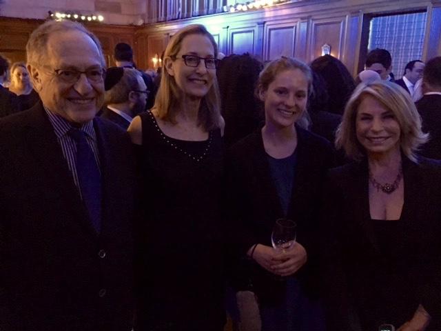 w. Alan Dershowitz, American scholar & noted civil libertarian. & family