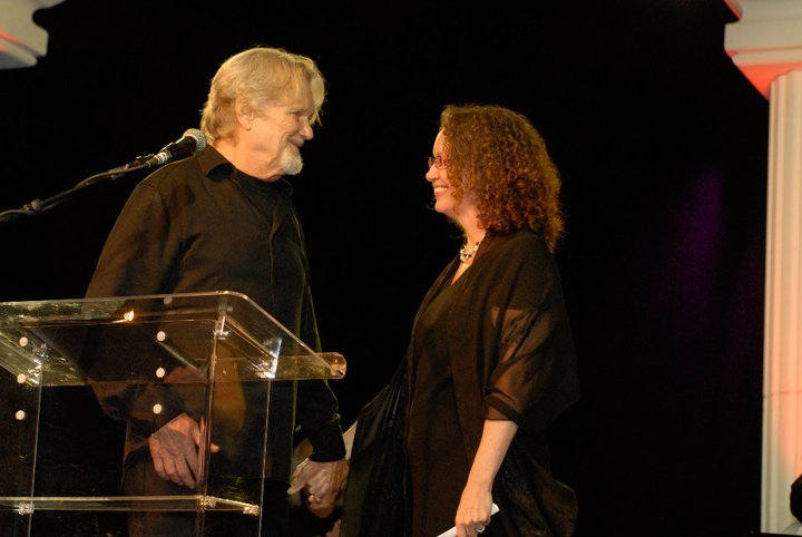 Kris Kristofferson and Tamara Saviano at the Leadership Music Dale Franklin Awards 2010