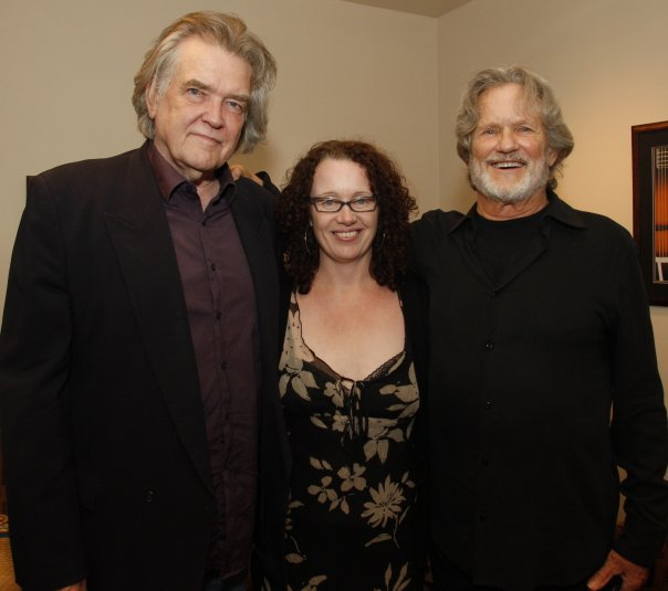 Guy Clark, Tamara Saviano, Kris Kristofferson at the Country Music Hall of Fame Ford Theater during Kristofferson's Artist in Residence program 2007